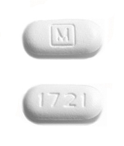 Pill with M On It